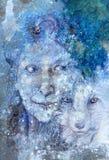 Dea shamanic saggia della foresta della donna con la volpe Fotografia Stock