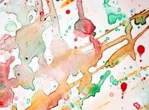 deacaying桃红色绿色抽象五颜六色的背景,抽象五颜六色的纹理的水彩 免版税库存照片