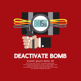 Deactivate Bomb Graphic Stock Image