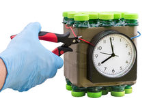 Deactivation found timed bombs Royalty Free Stock Photos