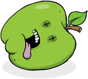Dead Apple CArtoon Character Stock Image