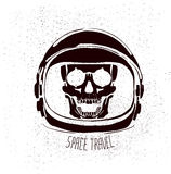 Dead astronaut helmet Stock Photos