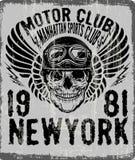 Dead biker tee graphic design Stock Image