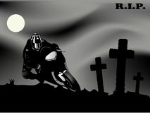 Dead biker Royalty Free Stock Photo