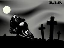 Dead biker Royalty Free Stock Photo