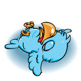 Dead Blue Bird. Dead Cute Blue Bird on the ground stock illustration