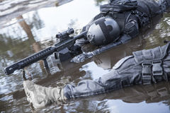 Dead bodies of special forces operators. Killed during a special operation Stock Photos