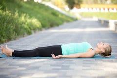 Dead Body exercise Stock Photo