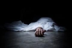Dead body. On a floor Stock Photos