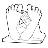Dead body icon, outline style Royalty Free Stock Image