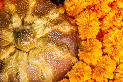 Dead bread Day of the dead celebration. Day of the dead celebration Dead bread Stock Photos