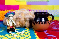 Dead bread Day of the dead celebration royalty free stock images