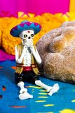 Dead bread Day of the dead celebration. Day of the dead celebration  Dead bread Royalty Free Stock Images