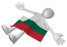 Dead cartoon guy and flag of bulgaria Royalty Free Stock Photography