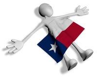 Dead cartoon guy and flag of texas Stock Photography