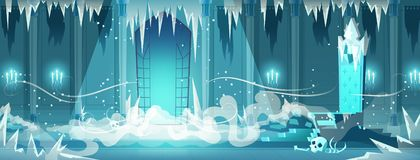 Dead Castle Frozen Throne Room Cartoon Vector Royalty Free Stock Image