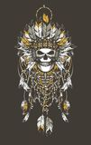 Dead chief badge Royalty Free Stock Photography
