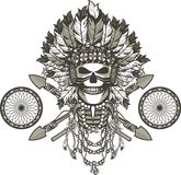 Dead chief badge Stock Photography