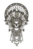 Dead chief badge Royalty Free Stock Image