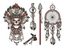 Dead chief designer set Royalty Free Stock Images