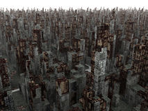 Dead City. Highly detailed 3D render. Calculation time: 48 hours Stock Photography