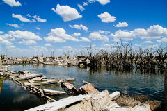 Dead City - Epecuen, Argentina. Royalty Free Stock Photo