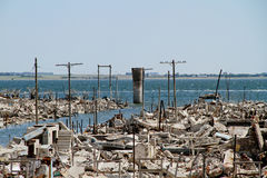 Dead City - Epecuen, Argentina Stock Photos