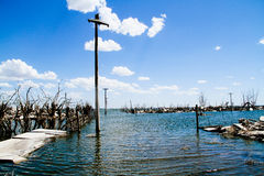 Dead City - Epecuen, Argentina Royalty Free Stock Image