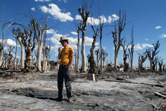 Dead City Epecuen in Argentina Royalty Free Stock Photography