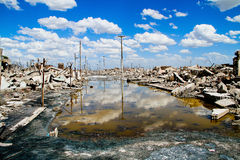 Dead City Epecuen in Argentina Royalty Free Stock Photo