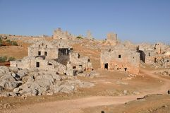 Dead city of Serjilla, Syria Stock Photos