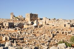 Dead city of Serjilla, Syria Stock Photo