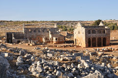 Dead city of Serjilla, Syria Royalty Free Stock Image