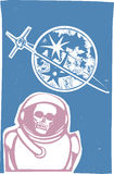 Dead Cosmonaut Royalty Free Stock Images