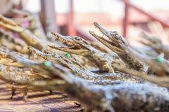 Dead crocodiles in souvenir shop, siem reap cambodia Stock Photos
