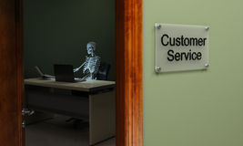 Dead customer service Royalty Free Stock Photos