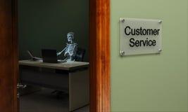 Dead customer service royalty free illustration