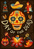 Dead Day Mexico Background Poster Royalty Free Stock Photos