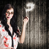Murder mystery who done it Stock Images
