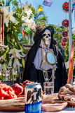 Dead Dia de los Muertos Decoration -巴亚尔塔港,哈利斯科州,墨西哥的天 免版税图库摄影