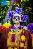 Dead Dia de los Muertos Decoration -巴亚尔塔港,哈利斯科州,墨西哥的天 免版税库存图片