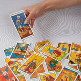 The dead, divination card. Marseilles Tarot , the dead divination card royalty free stock photos