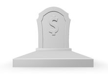 Dead dollar Royalty Free Stock Image