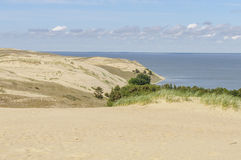Dead dunes in Curonian Spit, Lithuania, Europe Royalty Free Stock Photos