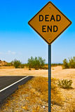 Dead end. Road sign Arizona USA royalty free stock image