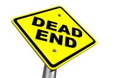 Dead End. Warning sign against white background Royalty Free Stock Image