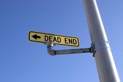 Dead End Sign Light Post Blue Sky Transportation Stock Image