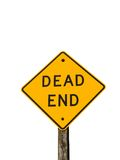 Dead End. Road sign isolated on white Royalty Free Stock Photos
