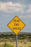 Dead End Ahead Sign Stock Photography