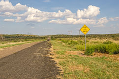 Dead End Ahead Sign Royalty Free Stock Photos